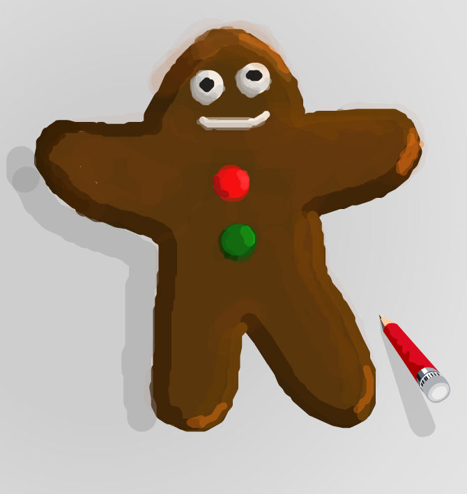 Gingerbread men are a favorite Christmastime subject to draw . They ...