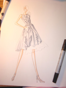 Rachel Burt fashion sketch howto 3