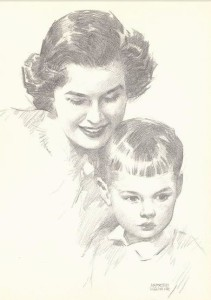 Drawing of child by Andrew Loomis.