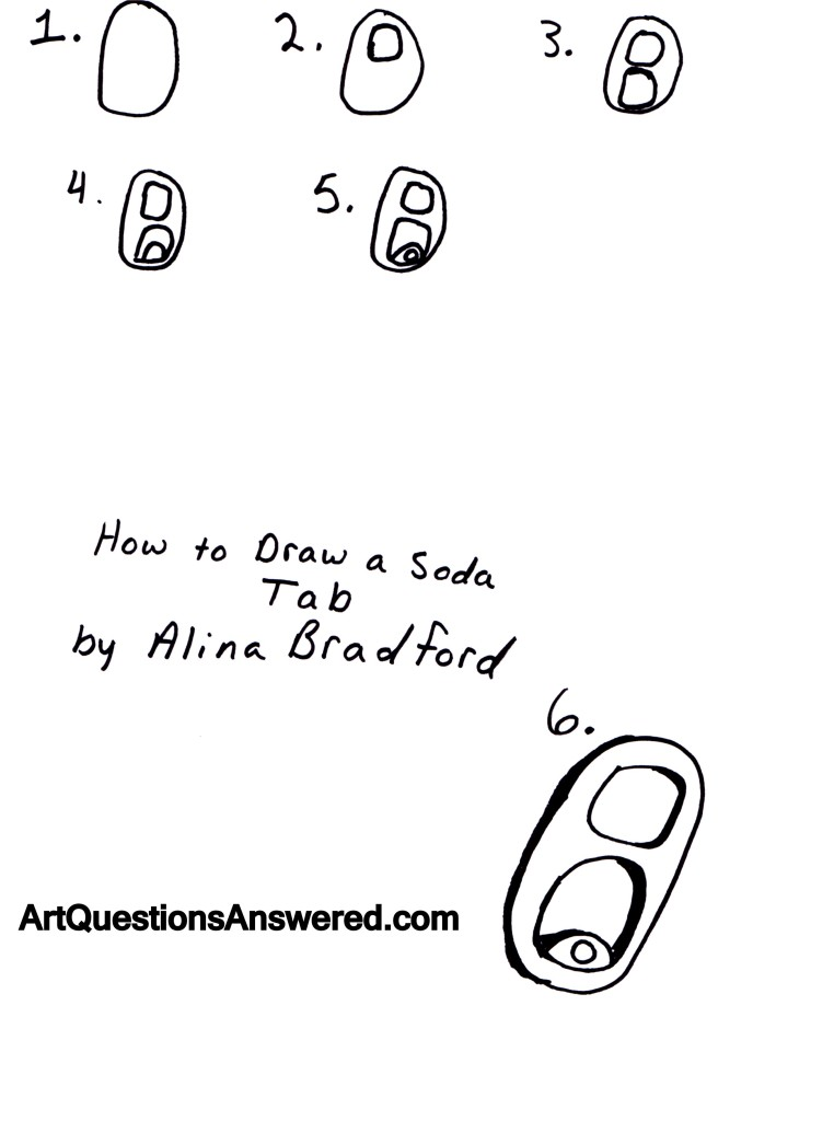 how to draw a soda tab