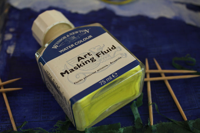 How do you use masking fluid by alina bradford