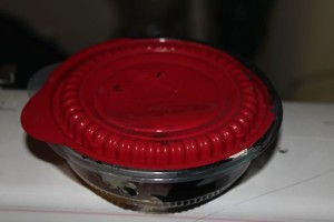 storing paint in fast food containers