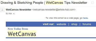 Wetcanvas newslettter