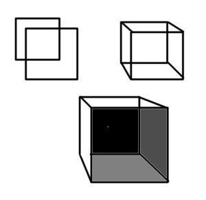 3 dimensional cube drawing