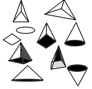 How to draw 3 dimensional cones