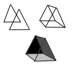 how to draw a three dimensional triangle