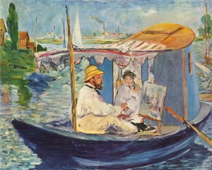 Claude Monet in Argenteuil — by Édouard Manet, 1874.